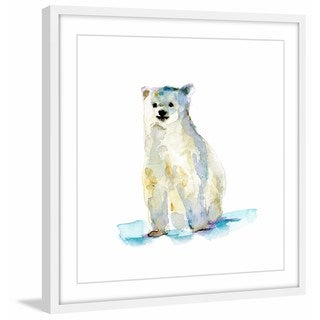 Marmont Hill - 'Baby Polar Bear' by Michelle Dujardin Framed Painting Print