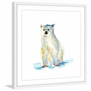 Marmont Hill - 'Baby Polar Bear' by Michelle Dujardin Framed Painting Print (More options available)