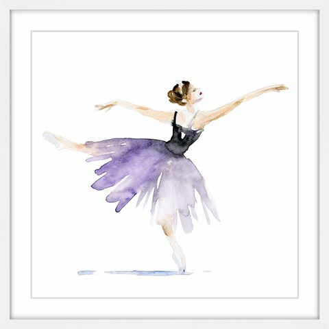 Marmont Hill - 'Ballerina Lilac' by Michelle Dujardin Framed Painting Print