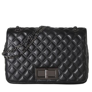 Diophy Large Quilted Pattern Crossbody Handbag|https://ak1.ostkcdn.com/images/products/13849593/P20491898.jpg?impolicy=medium