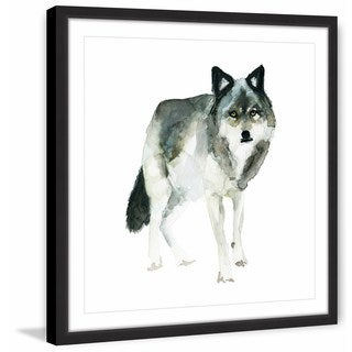 Marmont Hill - 'Wolf Stance' by Michelle Dujardin Framed Painting Print