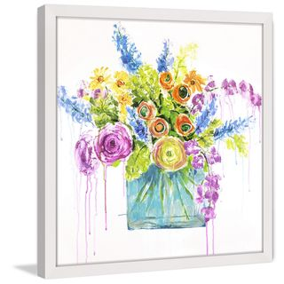 Marmont Hill - 'Garden Bloom II' by Julie Joy Framed Painting Print