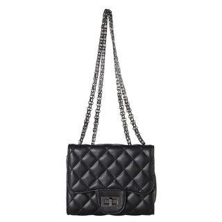 Diophy Quilted Pattern Mini crossbody Handbag