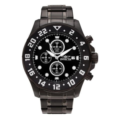 Invicta Men's 15945 'Specialty' Black Stainless Steel Watch