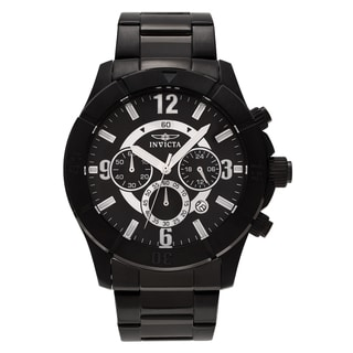 Invicta Men's 1425 'Specialty' Black Ion Plated Chronograph Link Bracelet Watch