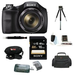 Sony Cyber-shot DSC-H300 Digital Camera (Black) with 16GB Accessory Kit|https://ak1.ostkcdn.com/images/products/13850626/P20491972.jpg?impolicy=medium