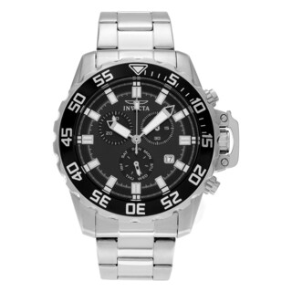 Invicta Men's 13624 Pro Diver Quartz Chronograph Black Dial Watch