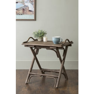 East At Main's Cicero Brown Rectangular Rattan Accent Table