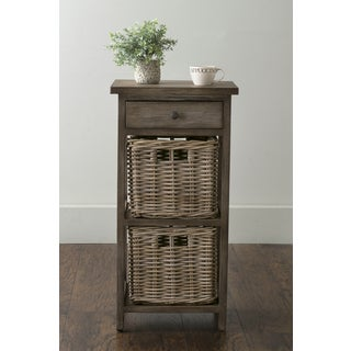 East At Main's Burnside Brown Square Rattan Accent Table