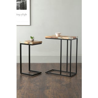 East At Main's Beloit Brown Rectangular Teakwood Accent Table