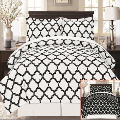 Super Soft 8 Piece Fretwork Geometric Bed in a Bag