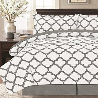 8 Piece Fretwork Geometric Bed in a Bag