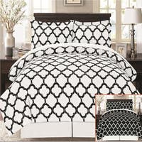 Super Soft 8 Piece Fretwork Geometric Bed in a Bag