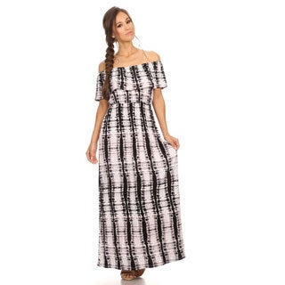 Women's Tie Dye Ruffle Overlay Maxi Dress
