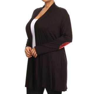 Women's Plus Size Solid Cardigan