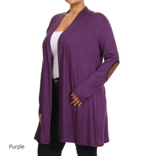 Women's Plus Size Solid Cardigan (3 options available)