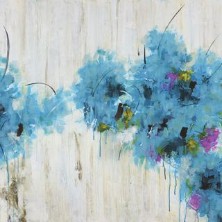 Marmont Hill - 'Center Piece II-2' by Julie Joy Painting Print on Wrapped Canvas