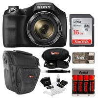 Sony Cyber-shot DSC-H300 Digital Camera (Black) with 16GB Deluxe Accessory Bundle