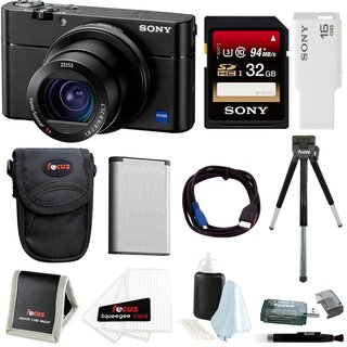 Sony DSC-RX100M5 Cybershot Digital Camera w/ 32GB SD Card & Accessory Bundle