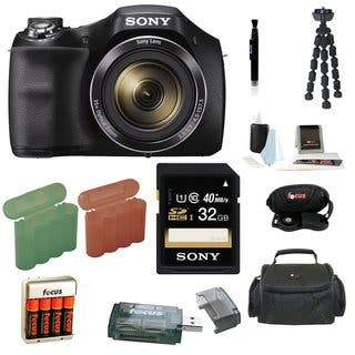 Sony Cyber-Shot H300 Digital Camera with 32GB SDHC Accessory Bundle|https://ak1.ostkcdn.com/images/products/13850725/P20492912.jpg?impolicy=medium