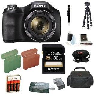 Sony Cyber-Shot H300 Digital Camera with 32GB SDHC Accessory Bundle