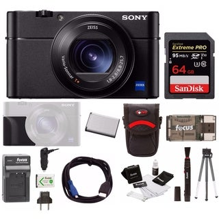 Sony DSC-RX100M5 Cyber-shot Digital Camera w/ Sony Grip & Accessory Bundle