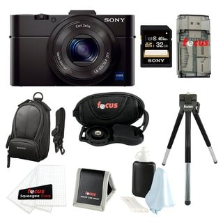 Sony DSC-RX100M II Digital Camera w/ 8 Inch Table Tripod & 32GB SDHC Acc Bundle