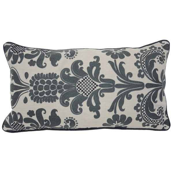 "Kosas Home Jacques Natural/Dark Grey 14""x26"" Pillow"