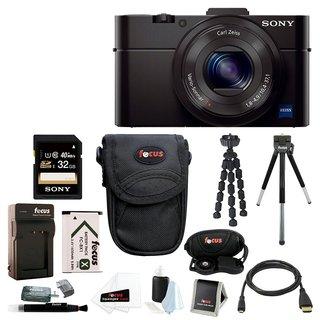 Sony DSC-RX100M II Cyber-shot Digital Camera w/ 32GB SD Card & Battery Bundle