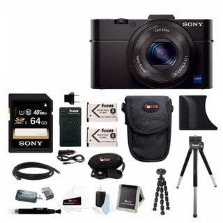 Sony DSC-RX100M II Digital Camera w/ 8 Inch Table Tripod & 64GB SDHC Acc Bundle