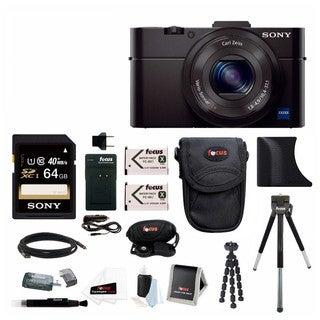Sony DSC-RX100M II Digital Camera w/ 8 Inch Table Tripod & 64GB SDHC Acc Bundle