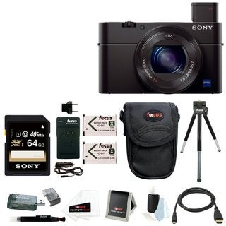 Sony DSC-RX100M II Cyber-shot Digital Camera w/ 64GB & Battery Bundle