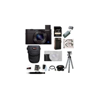 Sony DSC-RX100M III w/ Sony Attachment Grip and Dual Battery Acc Bundle