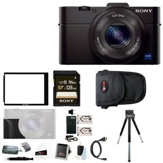 Sony Cyber-shot RX100M III 20.1 MP Digital Camera w/ Sony 128GB Memory Card Bundle