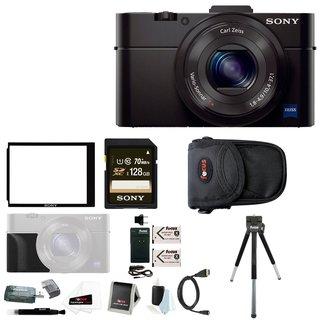 Sony Cyber-shot RX100M III 20.1 MP Digital Camera w/ Sony 128GB Memory Card Bundle