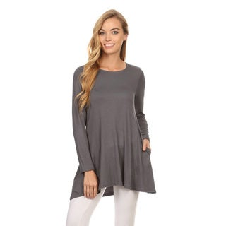 Link to Women's Solid Color Rayon/Spandex Tunic Top Similar Items in Athletic Clothing