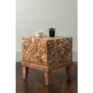 East At Main's Kensett Brown Square Teakwood Accent Table