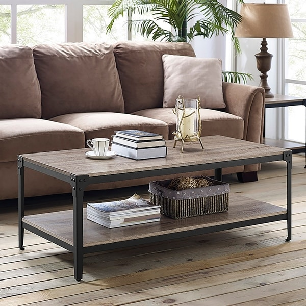 Carbon Loft Witten 48-inch Angle Iron Coffee Table - Driftwood