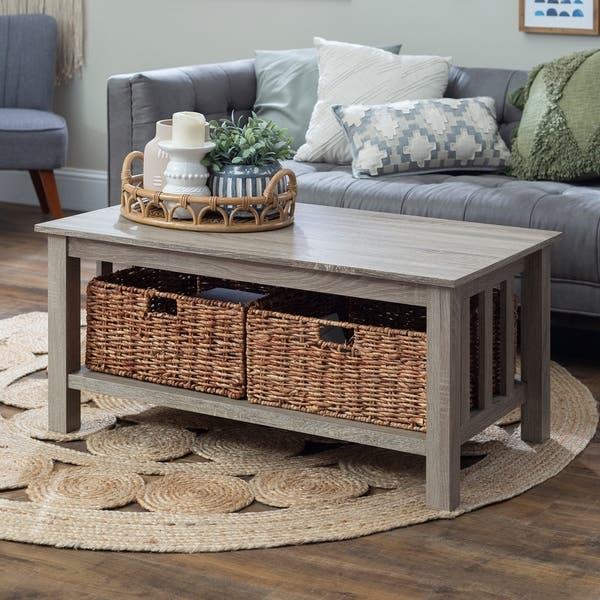 Shop Middlebrook Designs 40 Inch Driftwood Coffee Table With