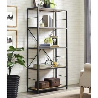 "60"" Rustic Metal and Wood Media Bookshelf - Barnwood|https://ak1.ostkcdn.com/images/products/13850817/P20492992.jpg?_ostk_perf_=percv&impolicy=medium"