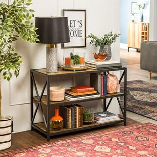 The Gray Barn Pitchfork X-frame Media Bookshelf (3 options available)