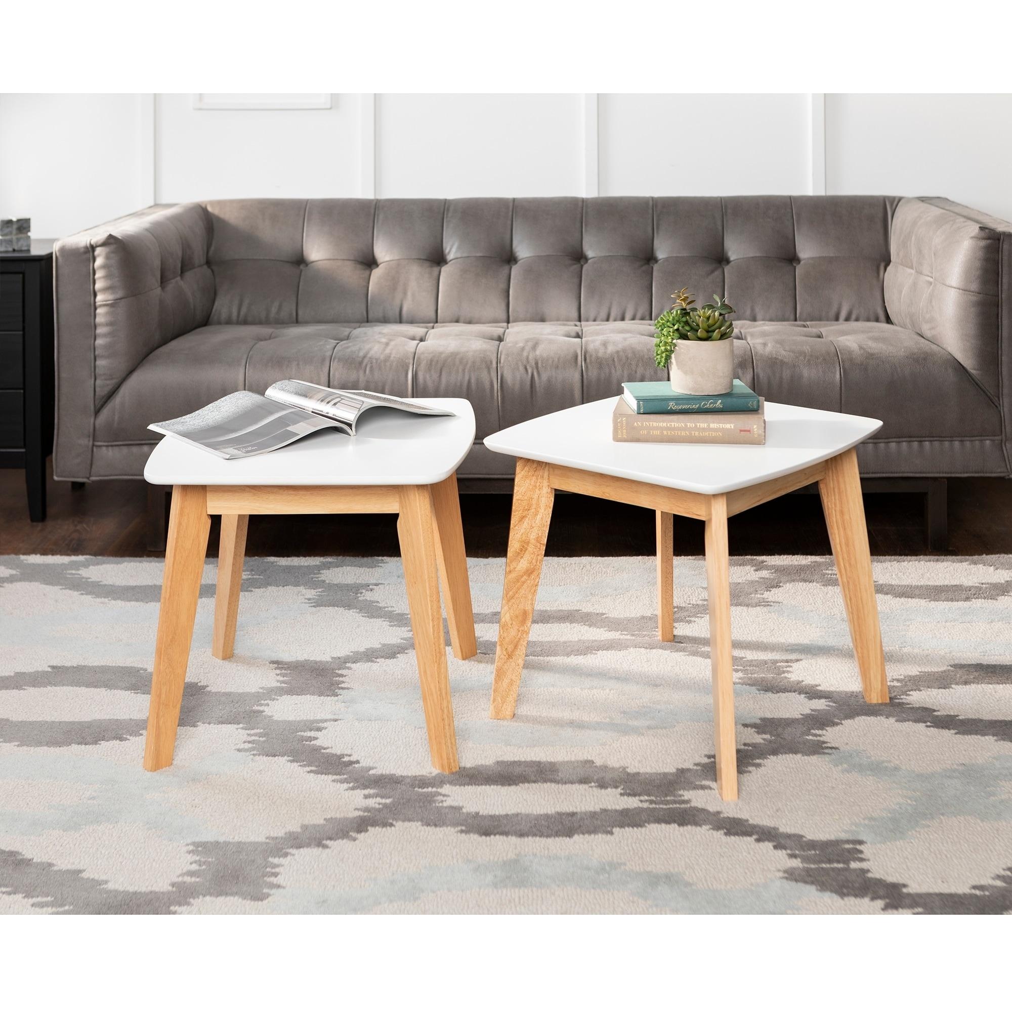 20-inch Retro Modern End Tables (Set of 2) (Retro Modern ...