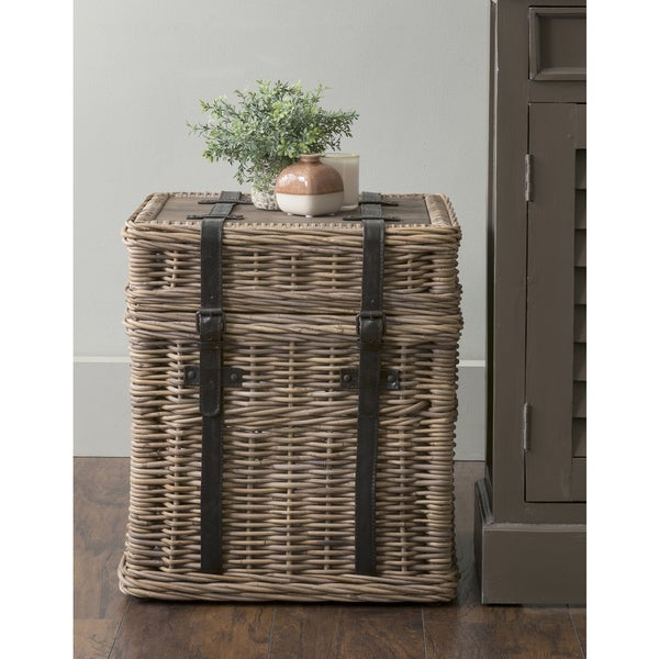 Shop East At Main S Colwell Brown Square Rattan Accent