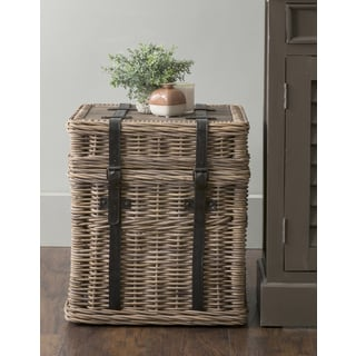 East At Main's Colwell Brown Square Rattan Accent Table
