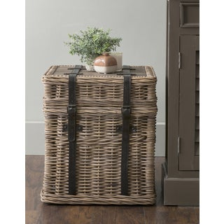East At Mainu0027s Colwell Brown Square Rattan Accent Table