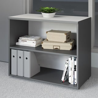 CorLiving Workspace Grey Short Adjustable Bookshelf