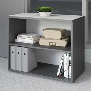 CorLiving Workspace Grey Short Adjustable Bookshelf