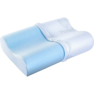PharMeDoc Cooling Memory-Foam Contour Pillow Luxury Gel Infused Breathable Foam Hypoallergenic Removable Case