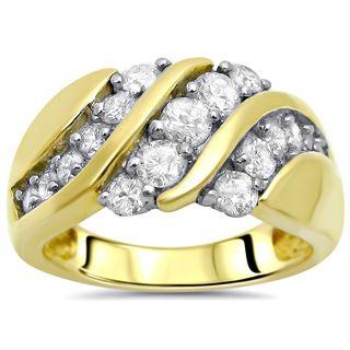 Noori 14k Gold 1ct Round Diamond Ring Wedding Band