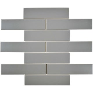 SomerTile 1.75x7.75-inch Victorian Soho Subway Matte Light Grey Porcelain Floor and Wall Tile (10/Pa